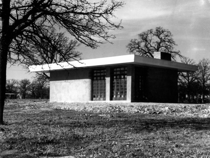 The rammed earth studio, January 1941