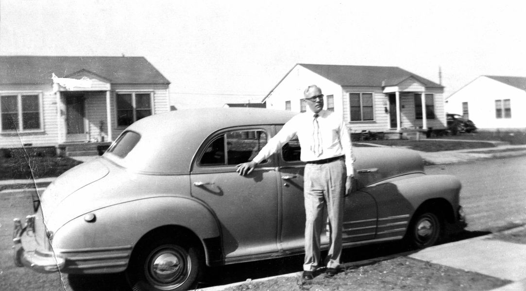 Uncle Rudi at our house on Vera Cruz in Fort Worth, 1949