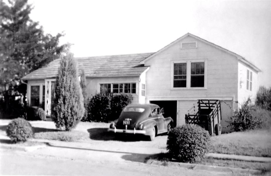 Rudi's house at 1729 Scripture, Denton, 1955