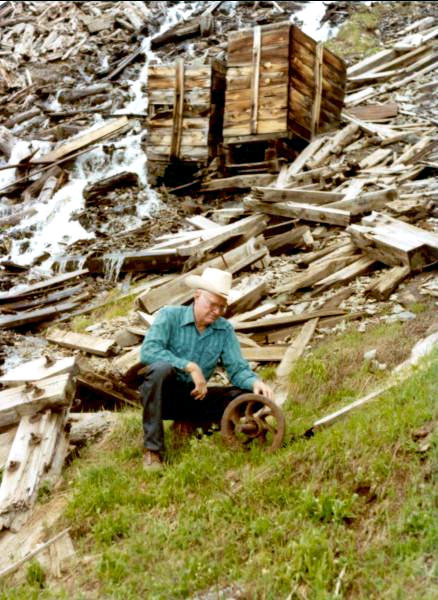 1975-7 George at the abandonedTeluride mining camp