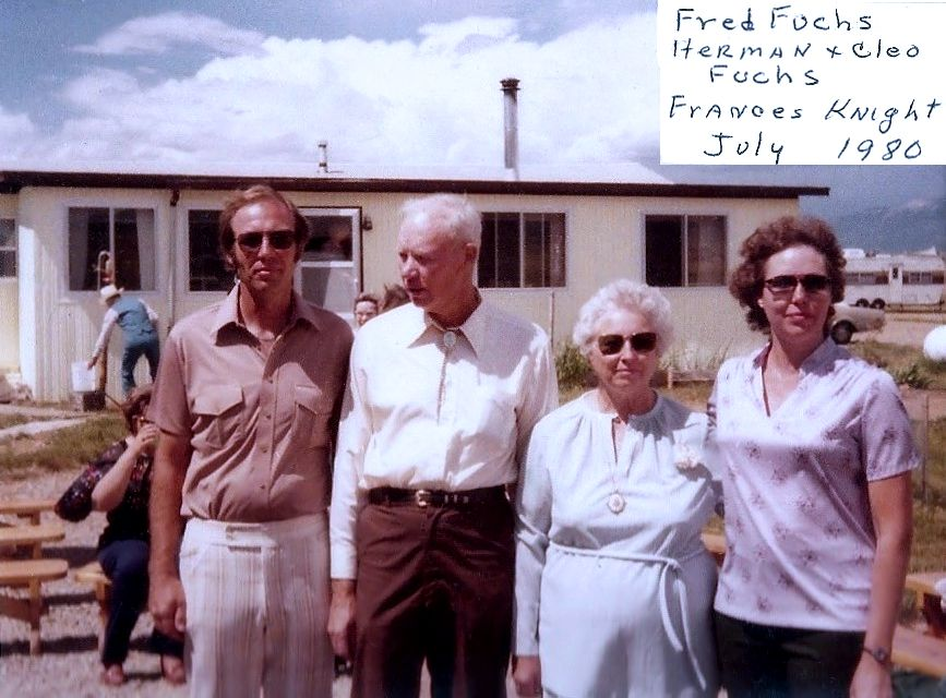 Fred, Herman, Cleo, and Fran, July 1980