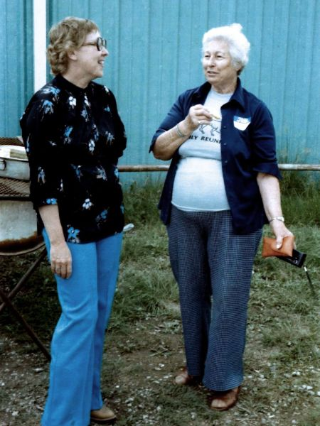 Betty Fox and Cleo, July 31, 1982