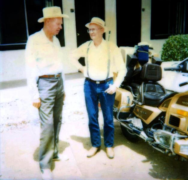 Herman and Vernon at the1988 Fuchs-Fox Family Reunion, Capitan, NM