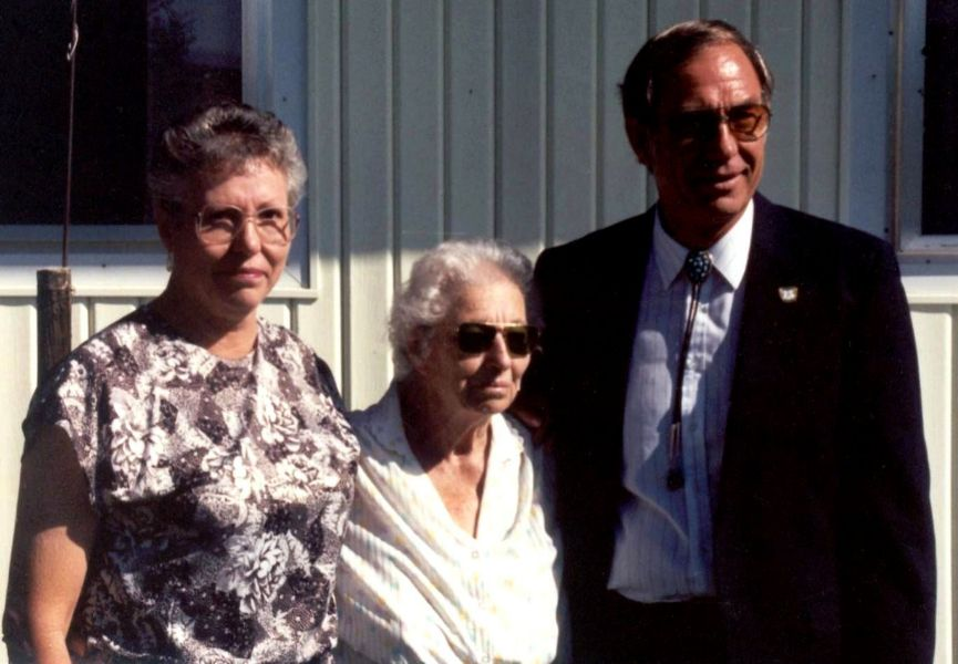 Fran, Cleo, and Fred at Herman's Memorial Service, August 13, 1994